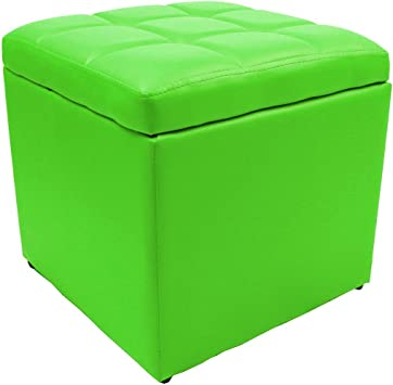Strong Unfold Leather Storage Ottoman Bench Footstool Seat Table Cocktail Square