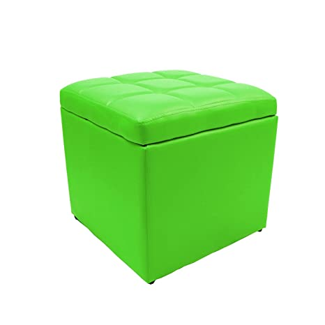 Remarkable Magshion 2 Sizes Unfold Leather Storage Ottoman Bench Footstool Cocktail Seat Coffee End Table Square Lime Forskolin Free Trial Chair Design Images Forskolin Free Trialorg