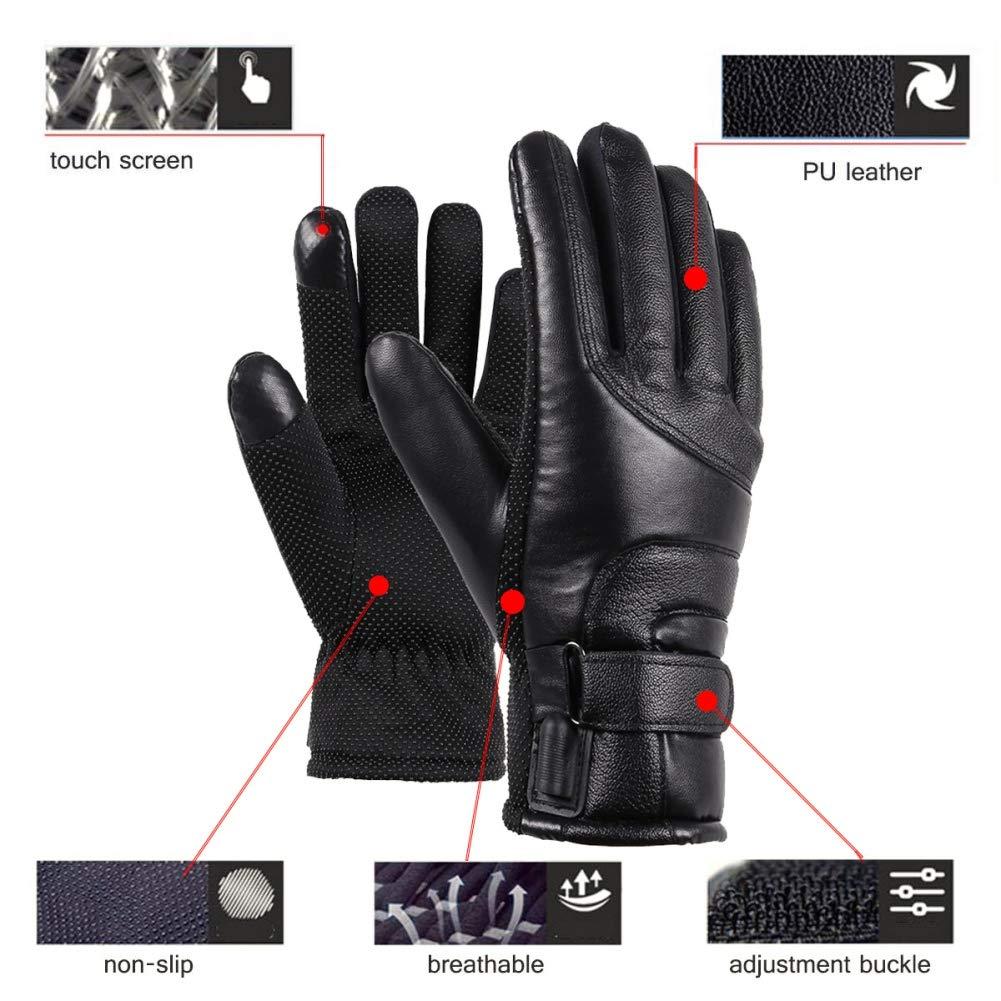 Mrinb Hommes Gants Chauffants USB /Écran Tactile Plein Doigt Main R/échauffeur /Électrique Thermique Gants Chauffants pour Moto Ski De Camping