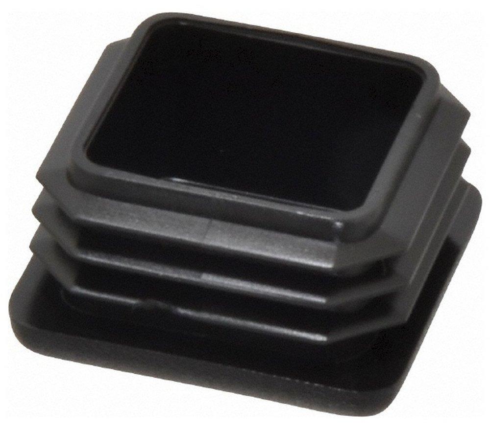 Made in USA Square Head Plug, 1-1/4 OD, Polyethylene, Black 100 Pack