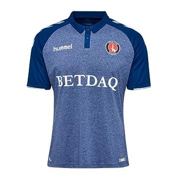 1201f342c7069 Hummel 2017-2018 Charlton Athletic Away Football Soccer T-Shirt:  Amazon.co.uk: Sports & Outdoors