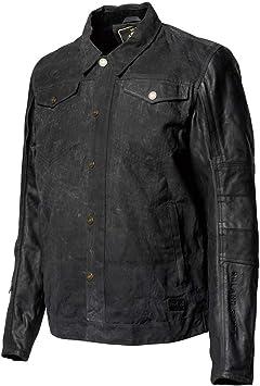 chaqueta de motociclista con forro WP color negro motocicleta Cera de algod/ón encerado para motocicleta