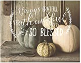 Jada Venia 9.75'x7.75' Pumpkins Always Grateful Light Box Insert