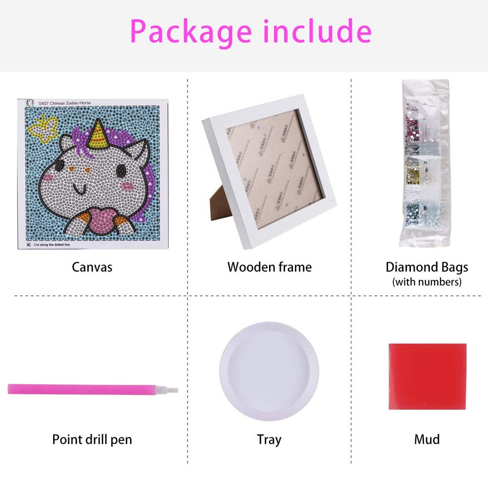 DIY Diamond Painting for Kids Full Drill Painting by Number Kits Arts Crafts Shimmer and Shine Sparkle Mosaics Sticker for Home Wall Decor Gifts for Christmas Birthday Iron Man