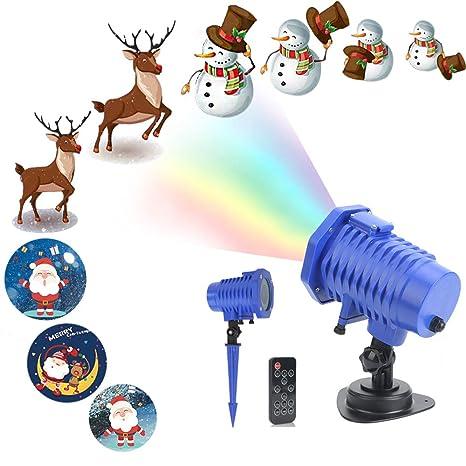 Proiettore Luci Di Natale Amazon.Regali Di Natale Decorazioni Natalizie Led Proiettore Luci Anime Lampada Di Proiezione Luci Di Natale Luce Effetto Interno Esterno Con