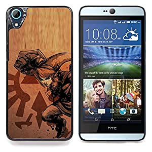 "Qstar Arte & diseño plástico duro Fundas Cover Cubre Hard Case Cover para HTC Desire 826 (Legend Of Zeld"")"