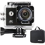 WIMIUS Wifi 4K(30FPS) アクションカメラ 防水 2.0インチ液晶 (ブラック)