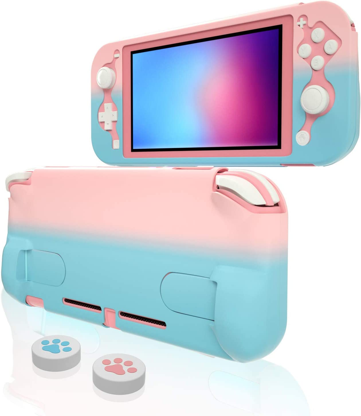 Protective Case for Nintendo Switch lite, Hard Case for Nintendo Switch lite - Pink Blue