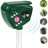 Animal Pest Repeller,fayinwbo Solar Powered Ultrasonic Pest Repellent, Outdoor Waterproof Pest Control,Motion Activated LED Lights Repels Raccoons, Cats and Dogs, Squirrels, Foxes, Skunks, Rabbit,etc.