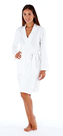 SST-UK Ladies Soft Jersey Kimono Wrap Cotton Dressing Gown Summer Bath Robe  House Coat a0d91a51e