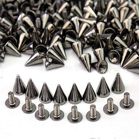 Ecloud ShopUS 3 Pieces 100pcs 7mm Studs Nailheads Rivet Punk Bag Belt Leather Craft