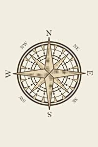 Nautical Compass North South East West Direction Symbol Cool Wall Decor Art Print Poster 12x18