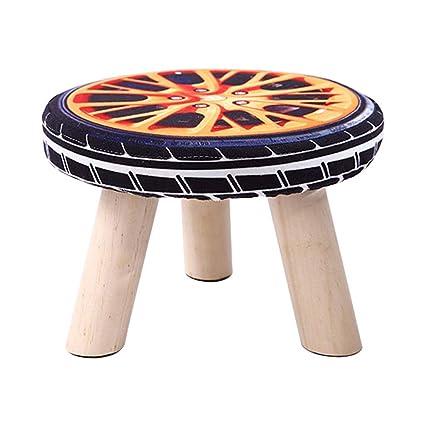 Fine Amazon Com Ylcj Padded Footstool Ottoman Round Ottoman Lamtechconsult Wood Chair Design Ideas Lamtechconsultcom