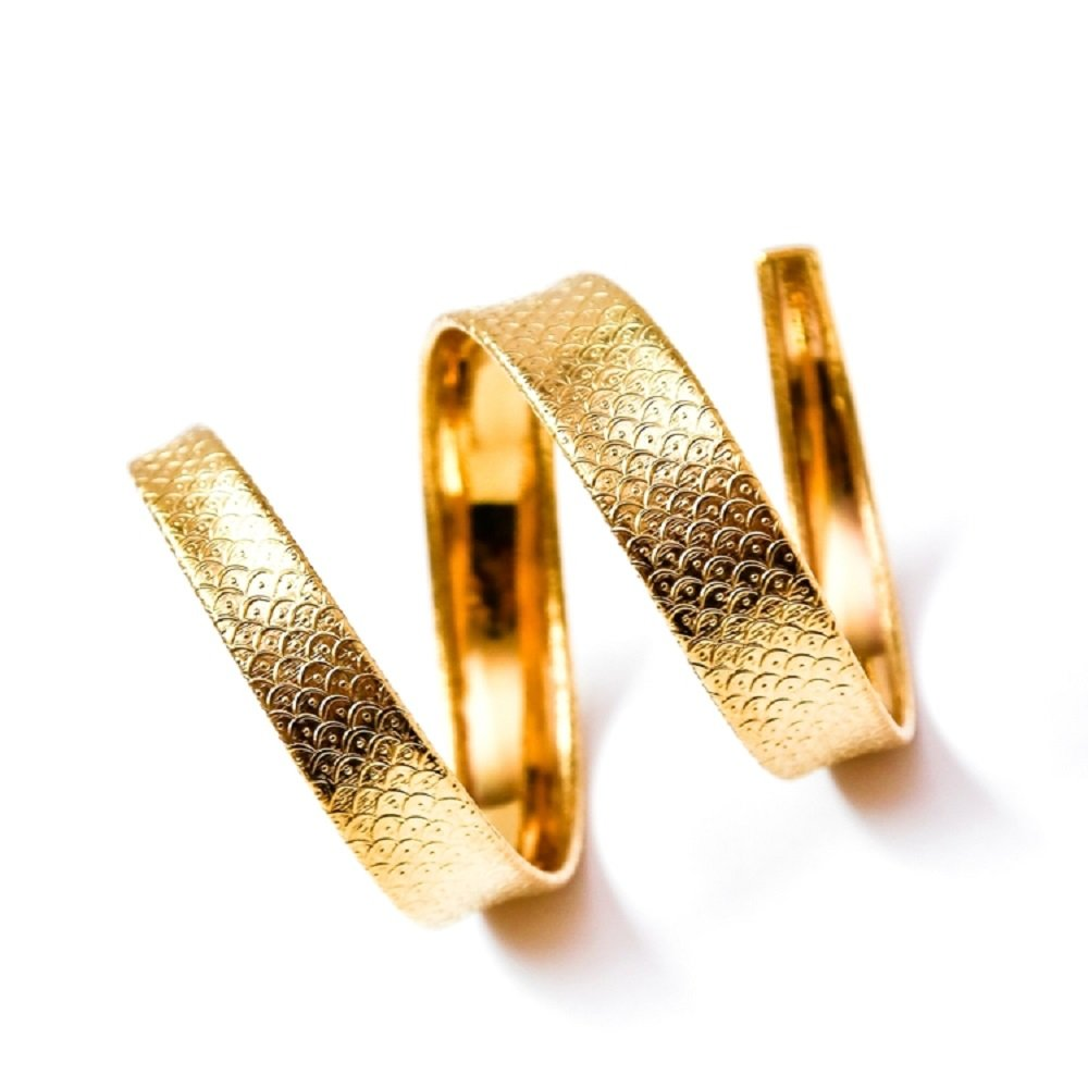 BISJOUX Snake Smooth Spiral Armlet Handcrafted Gold Brass (Fish Scale) by BISJOUX