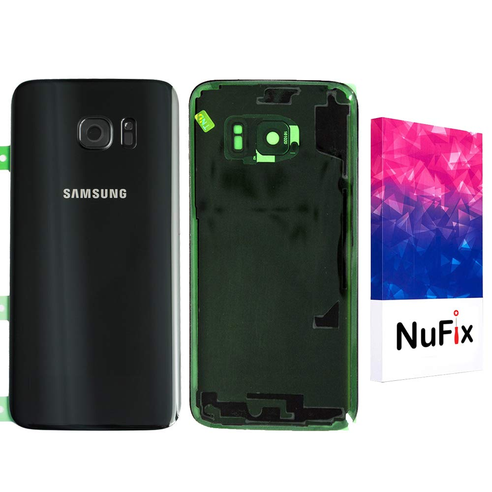 NuFix Replacement for Samsung Galaxy S7 Edge Back Glass Replacement with Camera lens Back Panel Housing Original color and Shape with Pre installed Camera lens /& Adhesive sticker for S7 Edge G935W8 SM-G935W8 Black