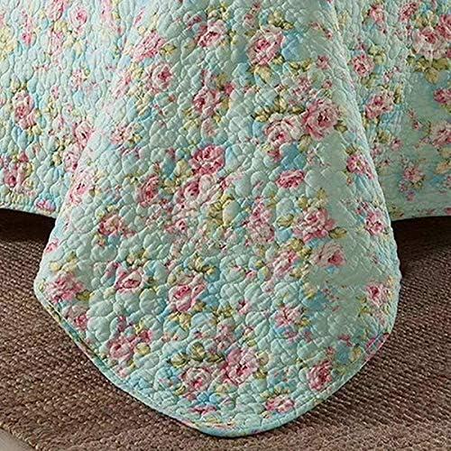 WYYAF Couvre-lit Jeté de lit Taille Double, Floral Rustique Imprimer Couvertures, réversible Lit d'été Couverture avec 2, 200 * Pillowcases 230cm