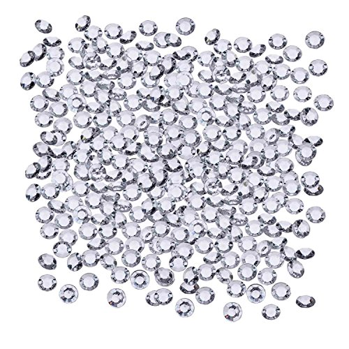 Sunmns 1000 Pack 10 mm Clear Acrylic Diamond Scatters Crystal Table Confetti for Weddings, Bridal Shower, Birthdays, Party, Romantic Dinner and Other Decorations