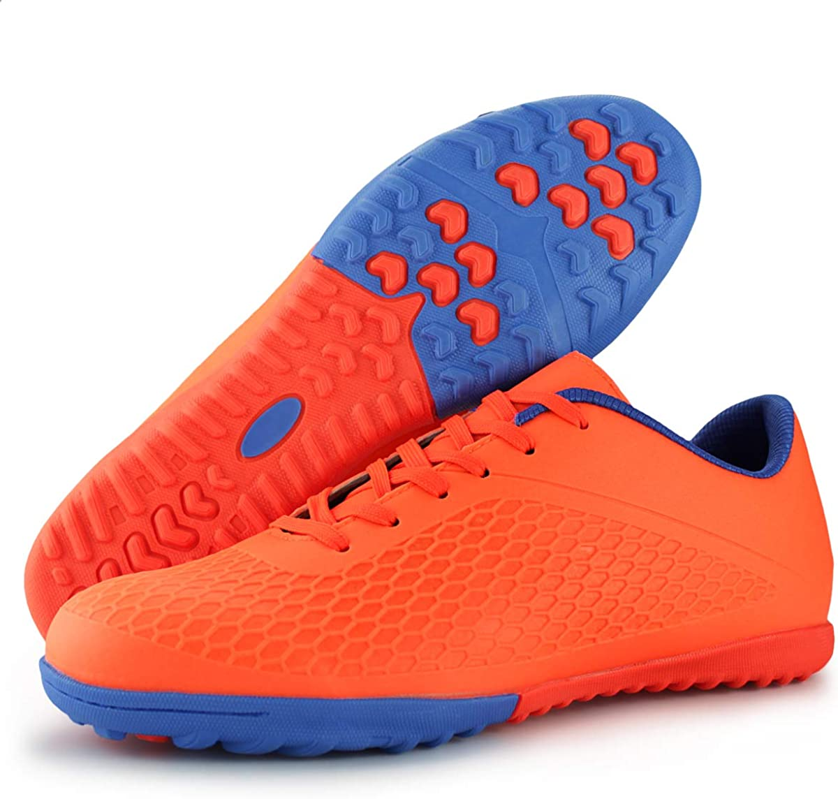 Hawkwell Mens Turf Soccer Shoes Outdoor//Indoor Comfortable Soccer Cleats