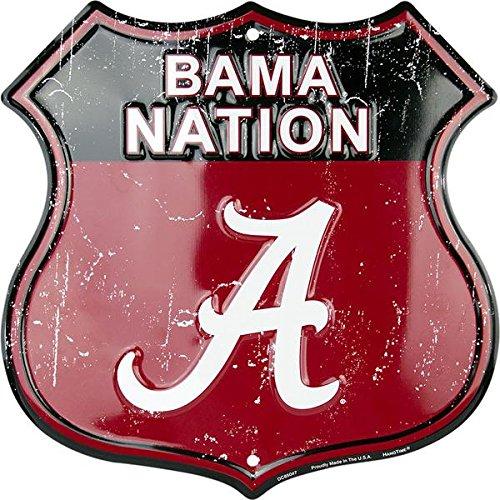 University of Alabama Route Sign HangTime Bama Nation