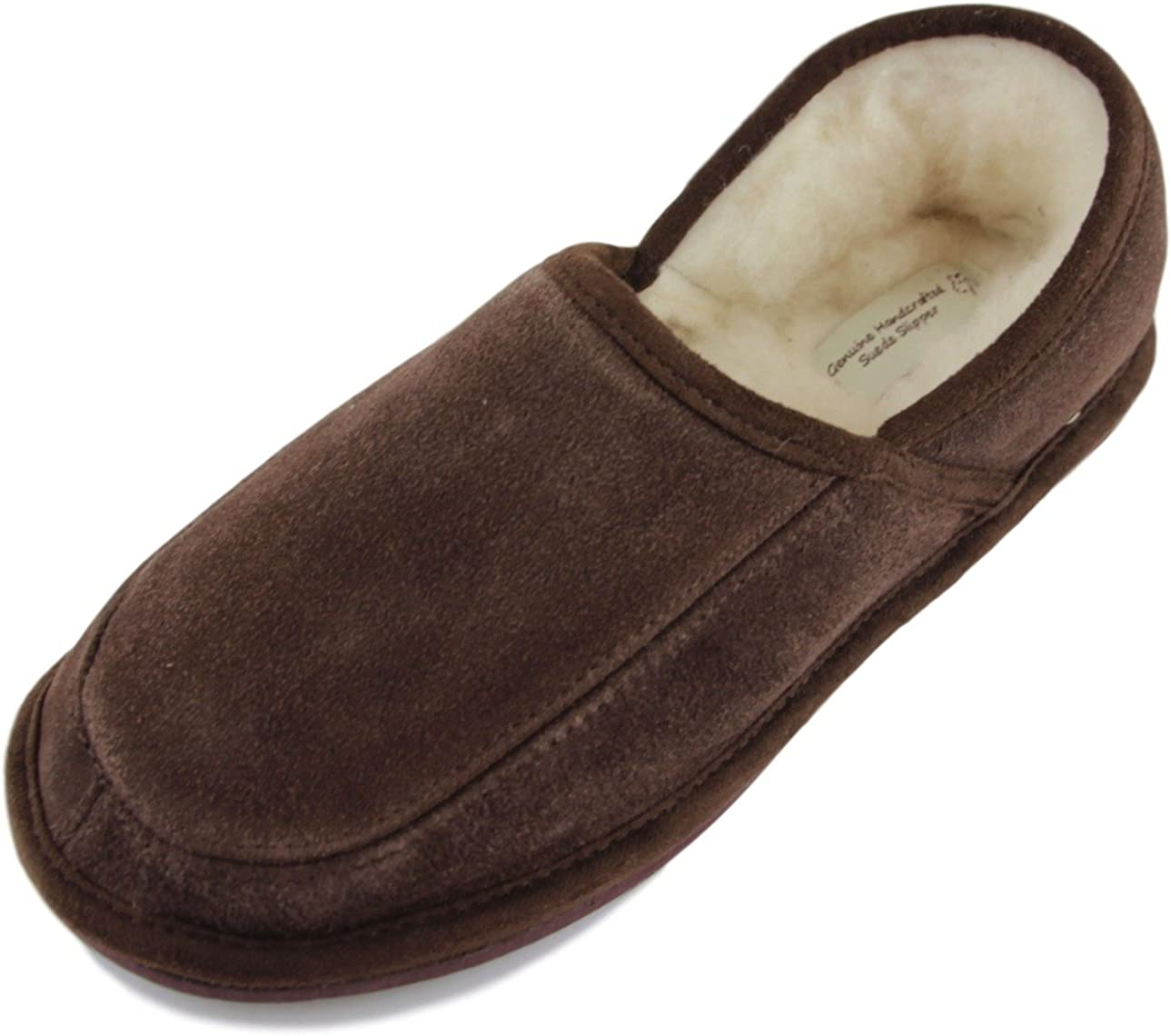 Wome Slipper Shoes Mule Suede Leather Wool Hand Made Size3-8
