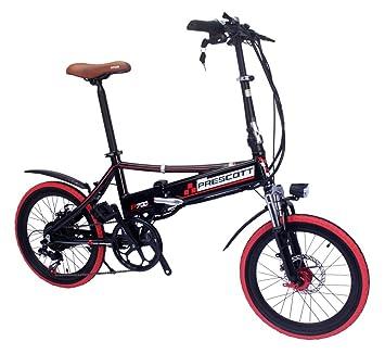 Prescott bicicleta eléctrica plegable bicicleta eléctrica con batería de litio extraíble – Hierro Shimano 250 W