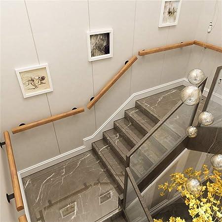 YIKE-Pasamanos Barandilla de Escalera, barandilla de Escalera de Madera Maciza Redonda, barandilla de Seguridad Antideslizante para Pared, Varilla de Soporte de ático de Pasillo Interior Adecuada pa: Amazon.es: Hogar