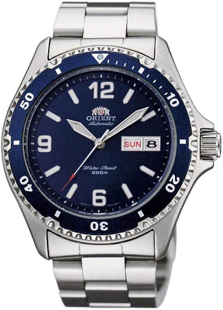 Orient Reloj Analógico para Unisex Adultos de Automático con Correa en Acero Inoxidable FAA02002D9