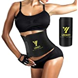 LEEKEY Waist Trimmer Belt for Women & Men - Slimmer Kit - Weight Loss Wrap - Sport Girdle Sweat - Stomach Fat Burner…
