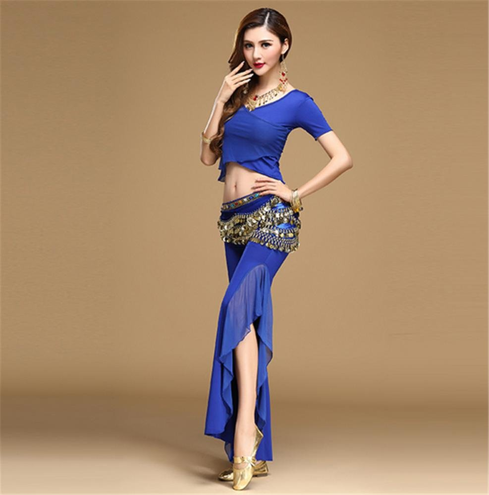 bleu XL peiwen Costume de Danse du Ventre Danse du Ventre de Femme Pratique Afficher Autres Couleurs