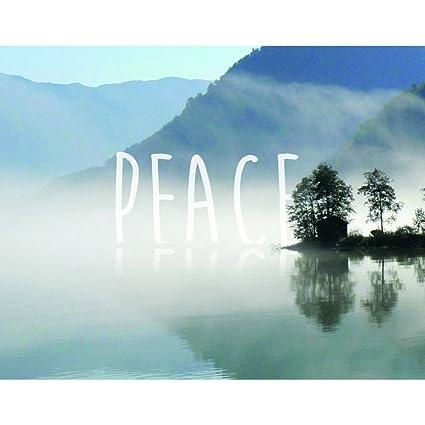 "Cartera lienzo decoración Inspo paz por NobleWorks envuelto lienzo pared arte, 16 ""x"