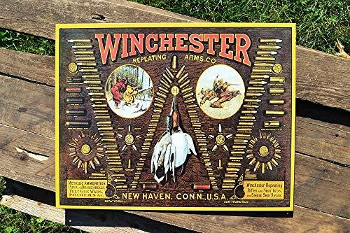 ShopForAllYou Vintage Decor Signs Winchester Repeating Arms Company Tin Metal Sign - Firearms - Bullet Board Retro