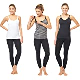 3 Pack 3 Style Clip-Down Double Opening Maternity Nursing Tank Top and Cami Shirts Clothes for Mother's Breast Feeding
