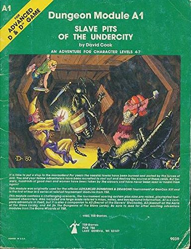 Slave Pits of the Undercity (Advanced Dungeons & Dragons module A1) (Dungeon And Dragons Modules compare prices)