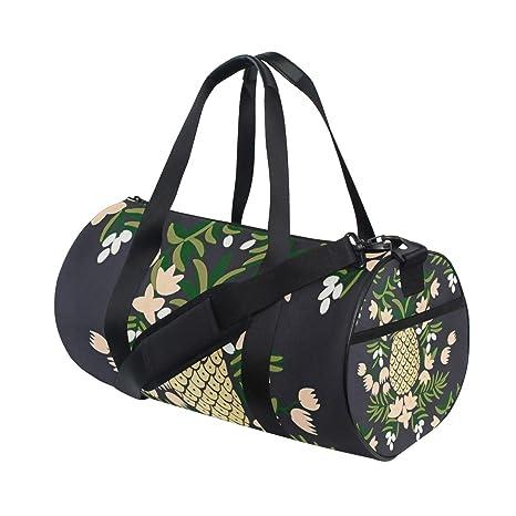 f1e41fa3551d Amazon.com: OuLian Duffel Bag Pineapple and Flower Women Garment Gym ...