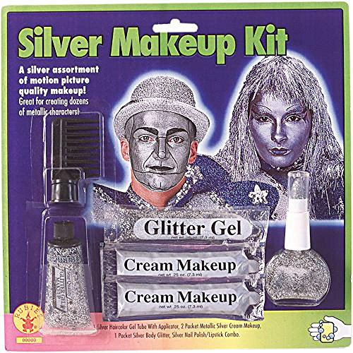 [Halloween Silver Face Makeup Kit] (Body Paint Costumes For Halloween)