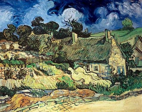 Oil Painting 'Thatched Cottages At Cordeville-Vincent Van Gogh,1890' Printing On High Quality Polyster Canvas , 10x13 Inch / 25x32 Cm ,the Best Home Theater Artwork And Home Decor And Gifts Is This Cheap But High Quality Art Decorative Art Decorative Canvas (70s Roller Girl Costume)