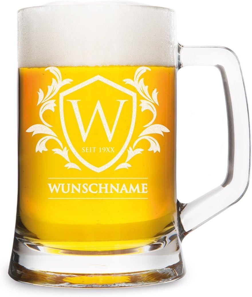 Montana - Jarra de cerveza (0,5 L), diseño con grabado personalizado