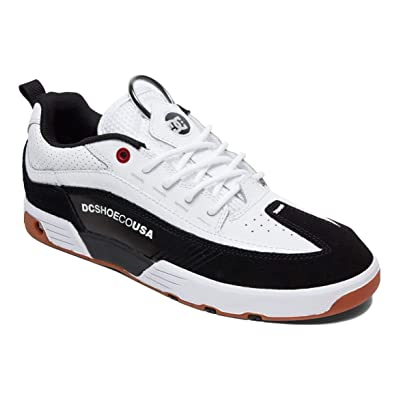 DC Shoes Men's Legacy 98 Slim S Skate Shoes White/Athletic Red/B 11: Shoes