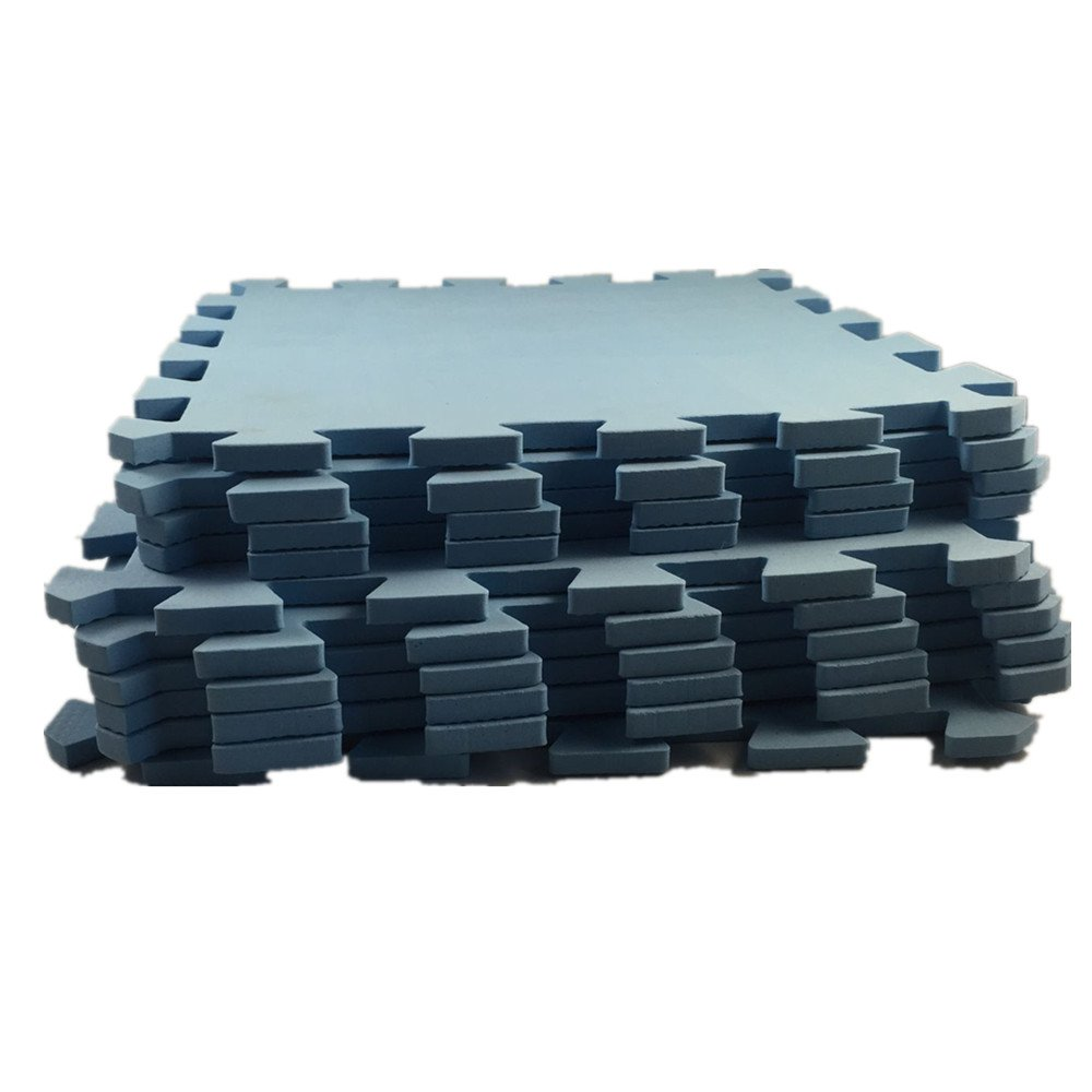 10Pcs Baby Interlocking EVA Foam Floor Puzzle Play Mat Crawling Play 30*30*0.8cm Blue hwydo