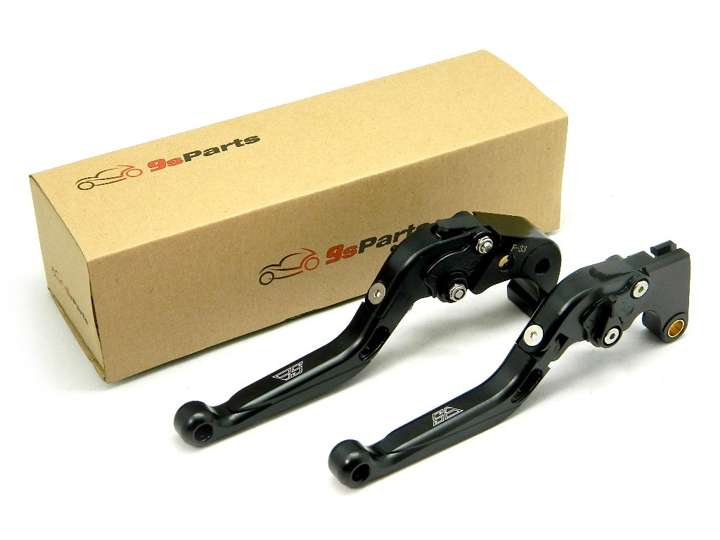 9sparts Black CNC Anodized Aluminum Adjustable Foldable Short Shorty Levers Brake Clutch Lever for 2001-2005 Yamaha FZ1, 2002-2003 Yamaha YZF R1, 1998-2004 Yamaha YZF R6, 2006-2009 Yamaha YZF R6S by 9sparts