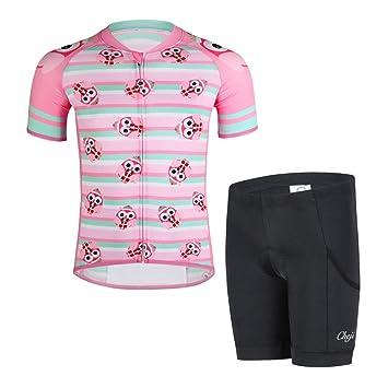 SXSHUN Maillot de Ciclismo para Niños y Niñas Conjunto de ...