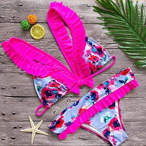 Bikini Costume Rosado Bagnarsi Spiaggia Suit Swimsuit Top Kootk Pezzo Sexy S Tankini E Costumi Due Nuoto Slip Bagno Da Donna Impostato xRAgBIq