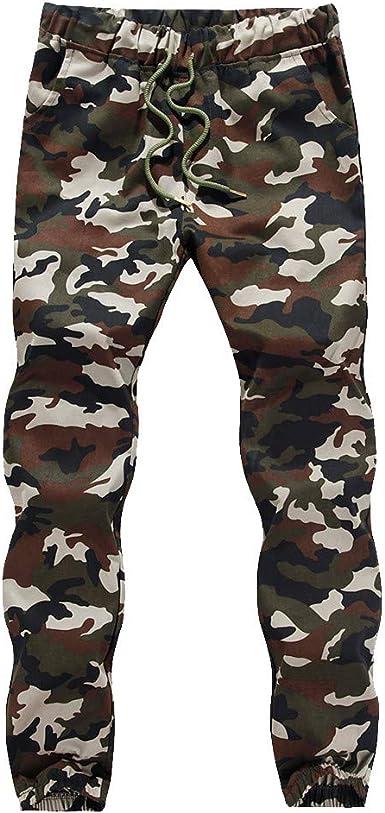 LianMengMVP Pantalones Cargo Largo Camuflaje para Hombre, Hombre ...