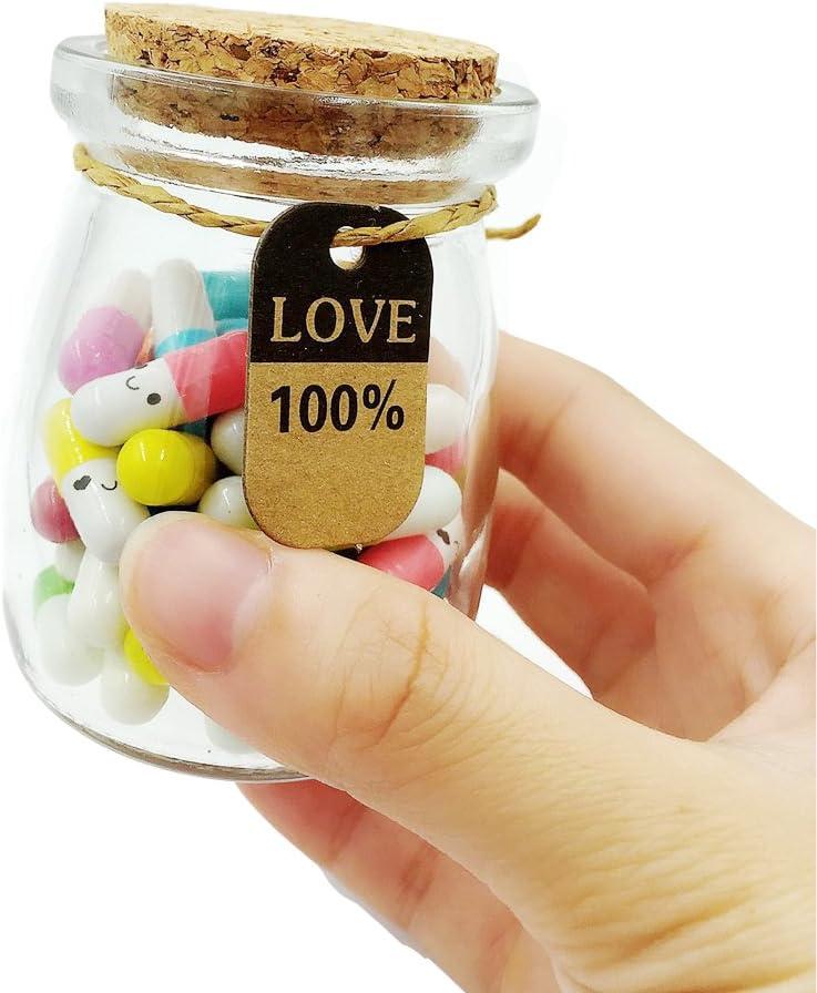 Boyfriend Gifts Message in a Bottle Capsule Letter 130 Pcs Message Pills Love Letter Cute Gifts for boyfriend or girlfriend