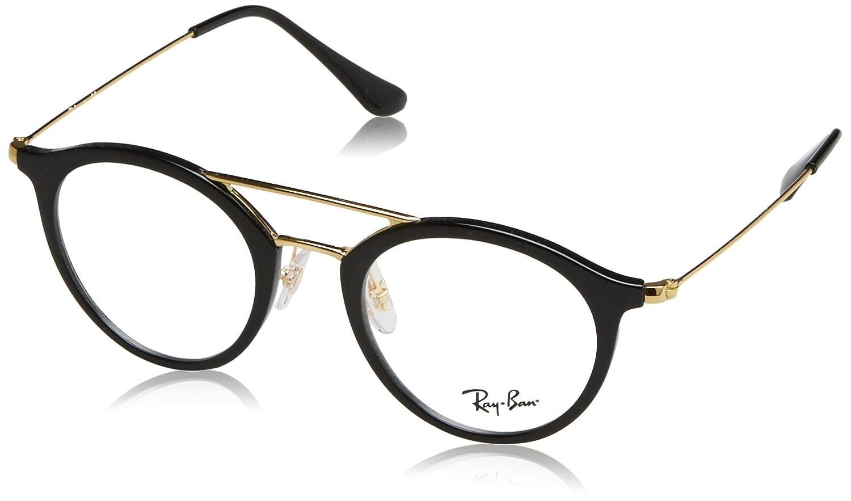 Ray-Ban Unisex-Erwachsene Brillengestell RX7097, Schwarz (Negro), 47 ...