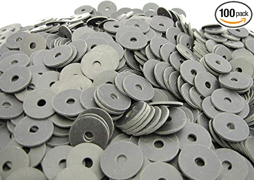 Large Oil Resistant Neoprene Rubber Fender Washers 8 Pack 2 OD x 1//4 ID x 1//16 Thickness Primal23 Industrial Endeavor Series Rubber Washers