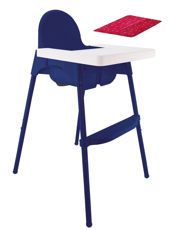 unbedenklich Bieco Kinderhochstuhl mit Tablett Hochstuhl Artn 45000002 Sitzkissen circa 100 x 60 x 70 cm Stahlbeine mit Antirutsch Gurt und zusammenklappbar in Blau stabil bis 20 kg belastbar