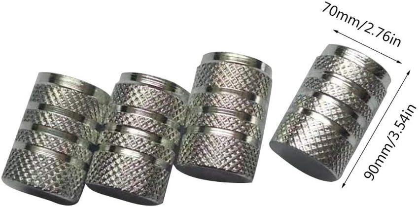 Candybarbar SI-AT11109 4 Pcs Car Motorbike Bike Aluminium Tyre Wheel Stem Air Valve Dust Caps Covers