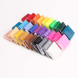 Troflink Regalo per Bambini in 30 Colori con Set di Attrezzi da Forno, Argilla polimerica per Modellare e Modellare