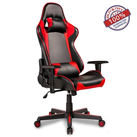 Enjoyable Hooseng High Back Ergonomic Gaming Racing Adults Teens Kids Computer Office Chairs Reclining Executive And Comfortable Red Alphanode Cool Chair Designs And Ideas Alphanodeonline